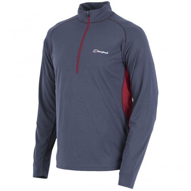 Berghaus Tech Tee Long Sleeve Zip Neck