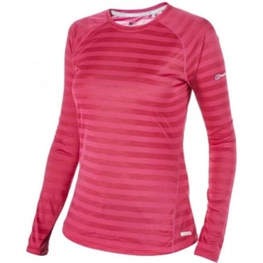 Women's Tech Tee LS Stripe