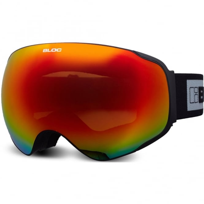 Bloc Evolution Goggles Matt Black/Red Revo