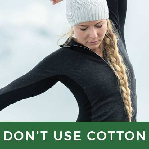 don't use cotton as a base layer | LD Mountain Centre
