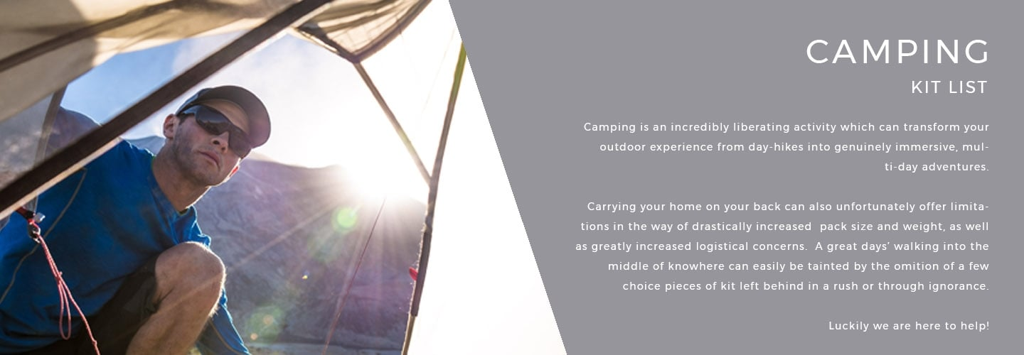 Camping Kit List | LD Mountain Centre