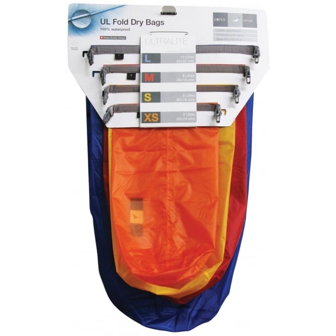 Exped Fold-Drybag Ultralite (4 PACK)
