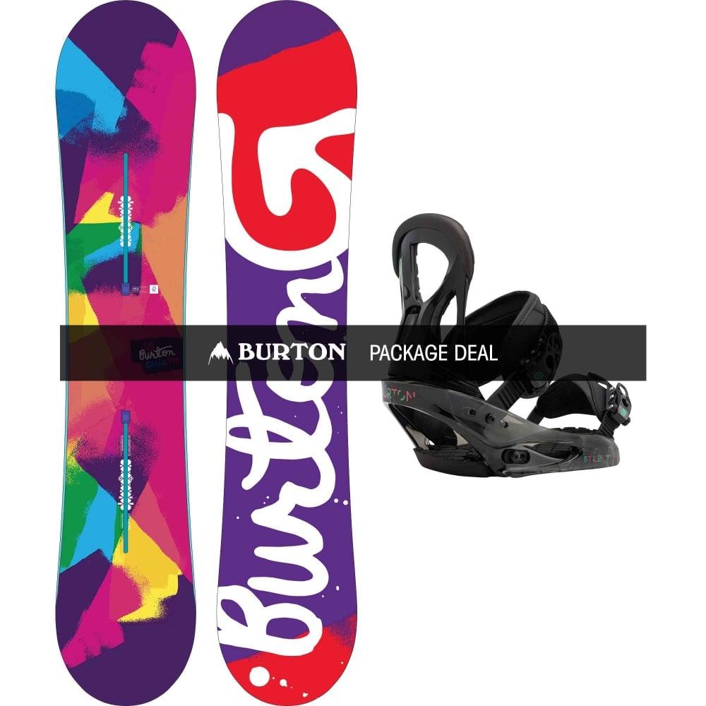 11cf026ad0 Burton Genie 138cm   Stiletto Package - Snowboard from LD Mountain ...