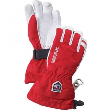 Junior Army Leather Heli Ski Glove