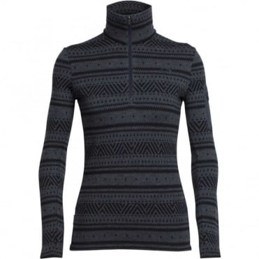 Women's Vertex LS Half Zip Fairisle