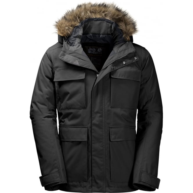 jack wolfskin point barrow parka jacket dames