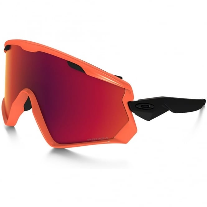 Oakley Wind Jacket 2.0 Neon Orange Red/Prizm Torch Iridium OO7072-05