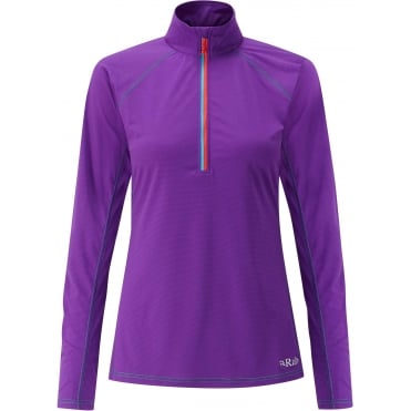 Women's Interval LS Zip Tee