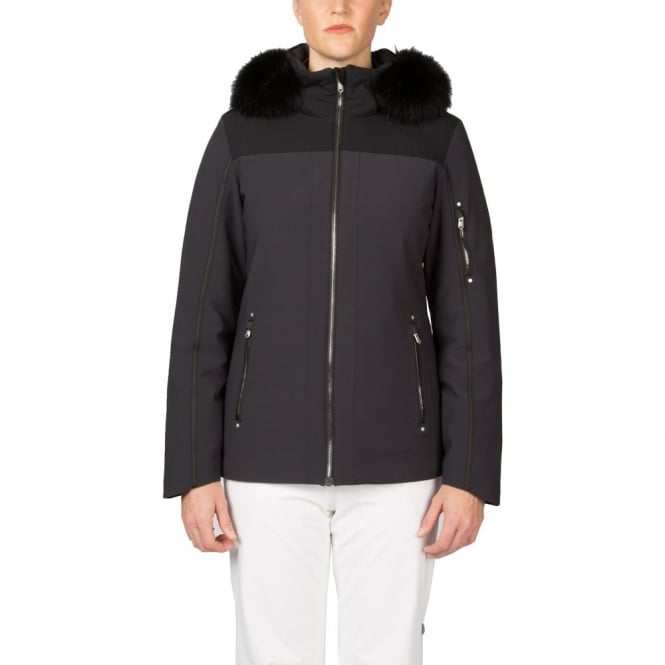 Spyder Women's Diamonte Faux Fur Jacket