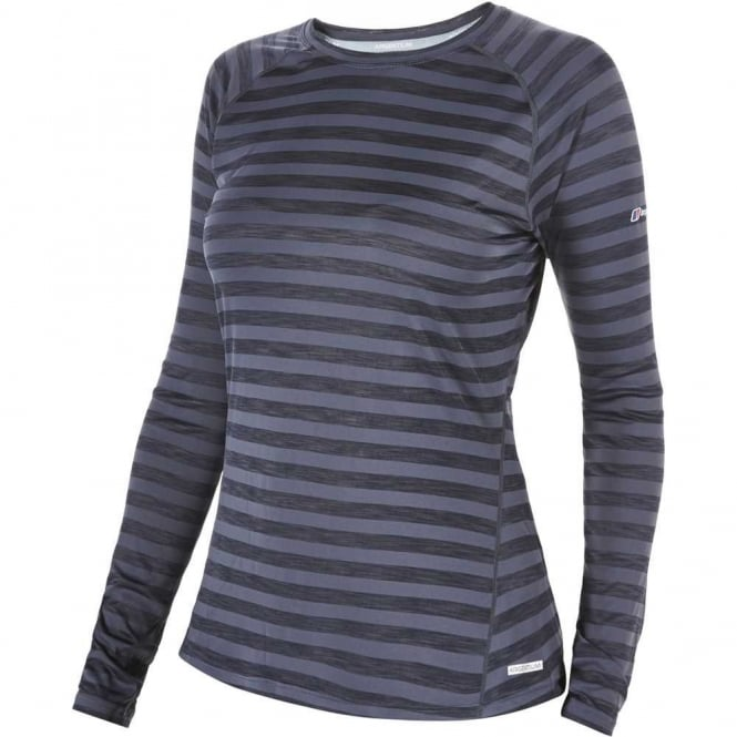Berghaus Women's Tech Tee LS Stripe
